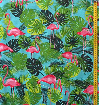 stoffe wachstuch flamingo tropisch funfabric. Black Bedroom Furniture Sets. Home Design Ideas
