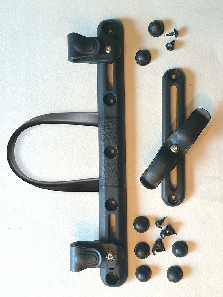 funfabric kurzwaren kleinteile dies das radtaschen befestigung fuer gepaecktraeger. Black Bedroom Furniture Sets. Home Design Ideas
