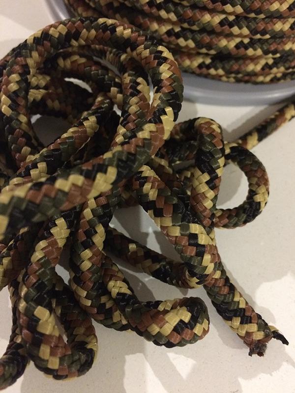 FunFabric Kurzwaren-Baender-Kordeln-und-Seile-Camouflage-Seil-geflochten