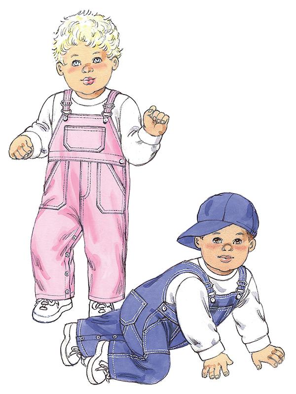 Schnittmuster-KWIK-SEW-Baby---Kleinkind-Latzhose-und-Bascap-4 FunFabric