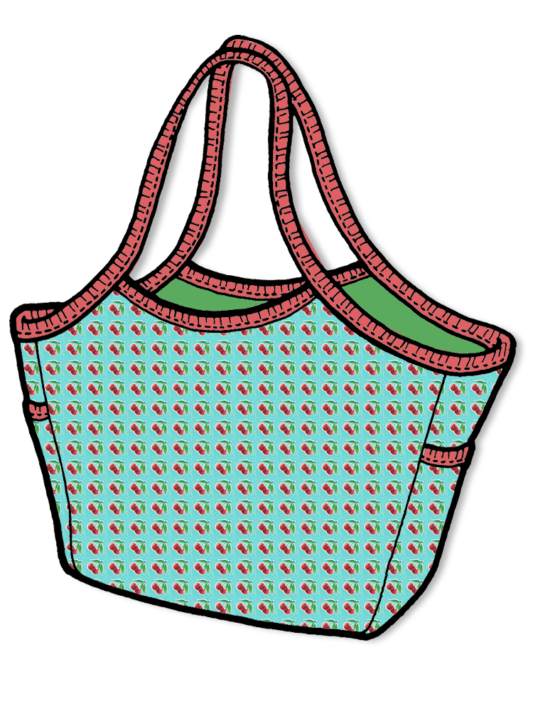 Schnittmuster the green pepper Wave Bag